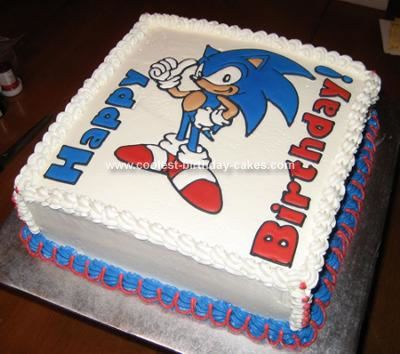Coolest Sonic The Hedgehog Birthday Cake Sonic Birthday Cake Sonic Birthday Sonic Cake
