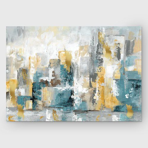 Found It At Wayfair City Views I Painting Print On Wrapped Canvas Abstract Canvas Painting Abstract Canvas Stretched Canvas Wall Art