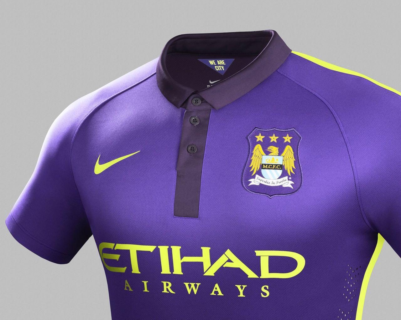 Manchester City Third 2015 Shirt Purple Football Shirt Shirts Manchester City