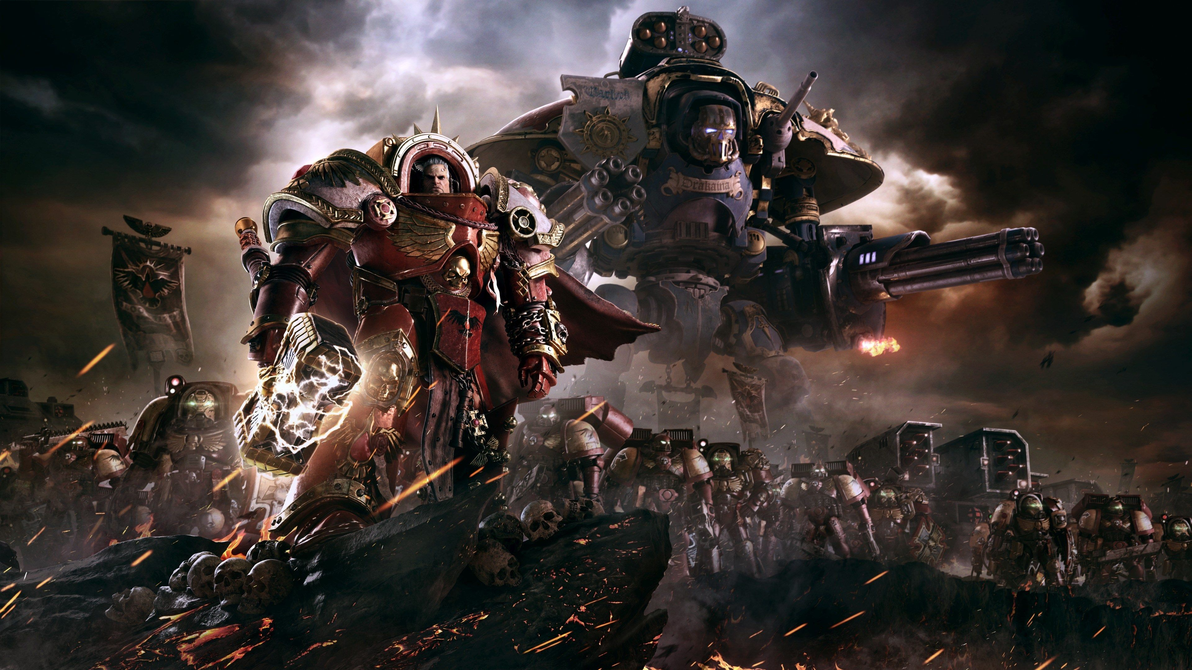 3840x2160 Warhammer 40000 Dawn Of War Iii 4k Backgrounds For Desktop Hd Backgrounds With Images Warhammer Warhammer 40k Warhammer 40000