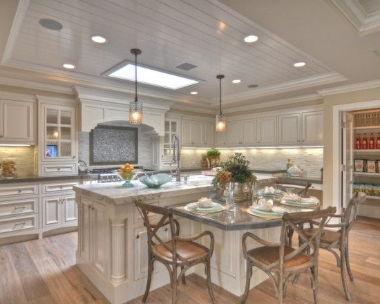 Drop Down Table Design Ideas Pictures Remodel And Decor Curved Kitchen Island Kitchen Island With Seating Kitchen Island Design