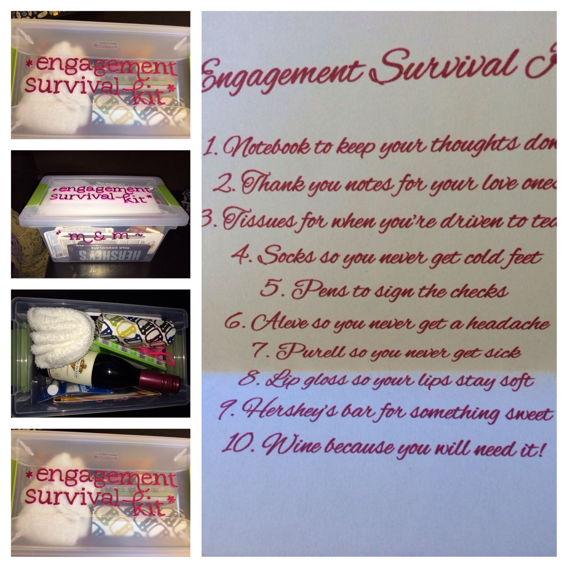 Wedding Gift Ideas For Young Couples: Engagement Survival Kit!