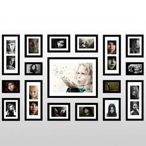 Luxury 17 Pcs Wall Hanging Art Home Decor Modern Photo Picture Frame Set 02695 Ebay