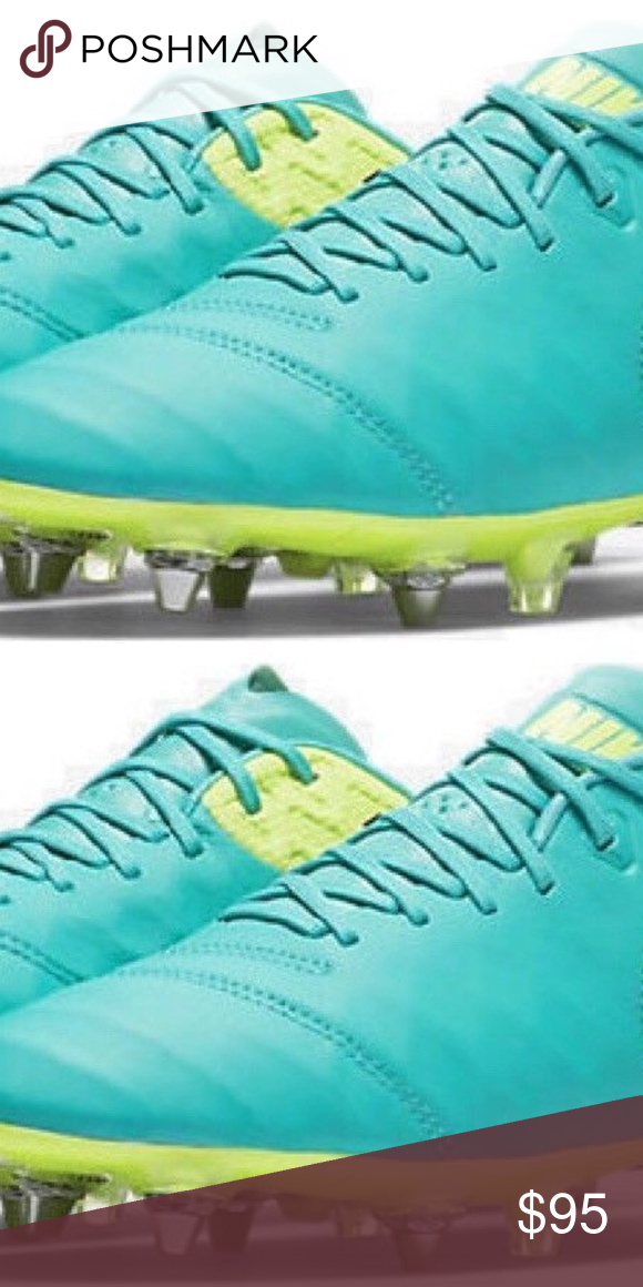 Pelágico Es una suerte que enchufe  Nike Tiempo Legend VI SG-Pro Soccer ACC Size 8 Nike Tiempo Legend VI SG-Pro  Soccer Cleats ACC Jade Green 819680 308 Size 8 Nike Shoe… | Nike, Nike men,  Sport shoes