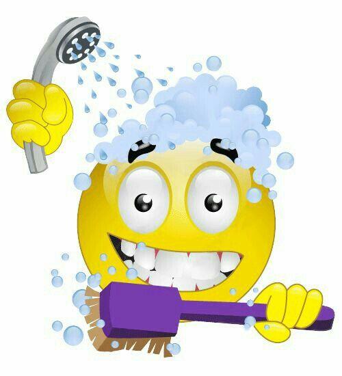 Showering and Brushing Teeth Smiley emoji, Emoticon