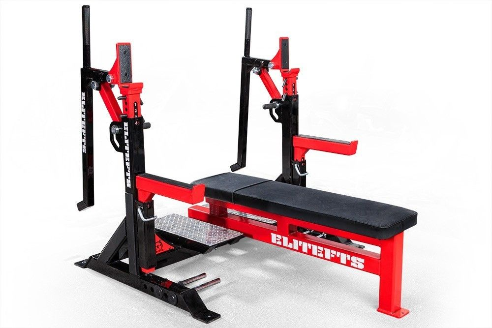 Elitefts competition bench wjacks at home gym home gym