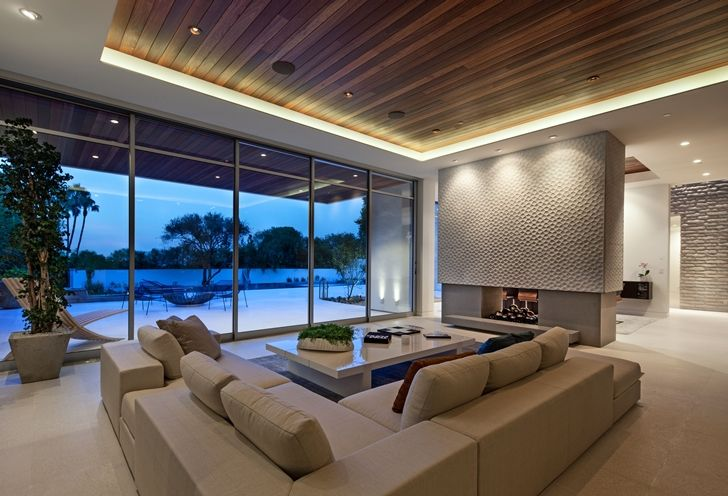 Living Room Furniture In Sunset Plaza Drive Modern Mansion In Los Angeles Plafond Design Plafond Moderne Faux Plafond