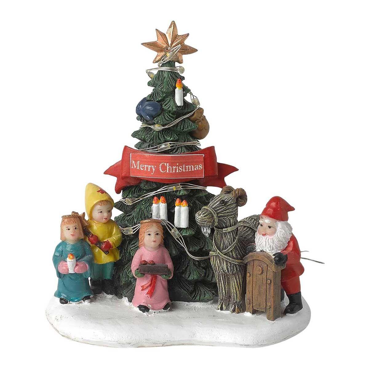 Mini Puesto Merry Christmas Pueblo Americano Abetos De Navidad  ~ Decoracion Navidad Corte Ingles