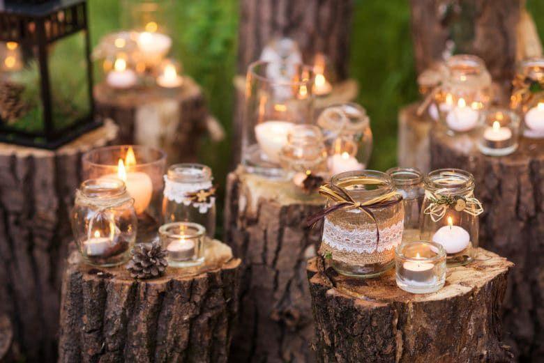 15 Wedding Ideas Only Rustic Brides Understand Jam Jar Candles
