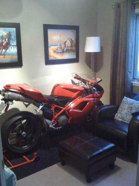 The Engine Room Design: Motorcycle Living Room Decoration.. Sweet!