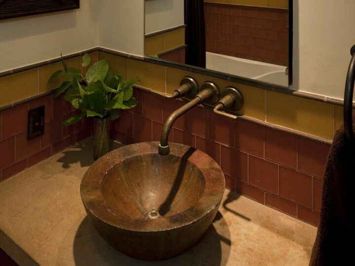 Photo of Bathroom fittings made of copper