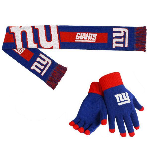 New York Giants Gloves & Scarf Set
