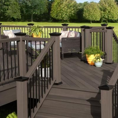 Veranda armorguard 48 in x 5 in x 5 in composite post for Veranda composite decking