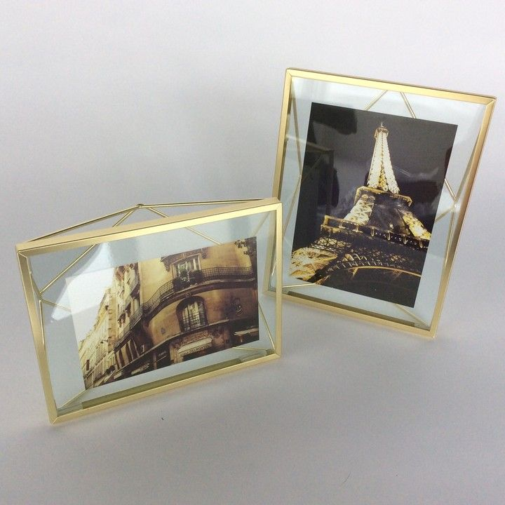 Prisma Frame 4x6 - GOLD from Glass House for $19.00