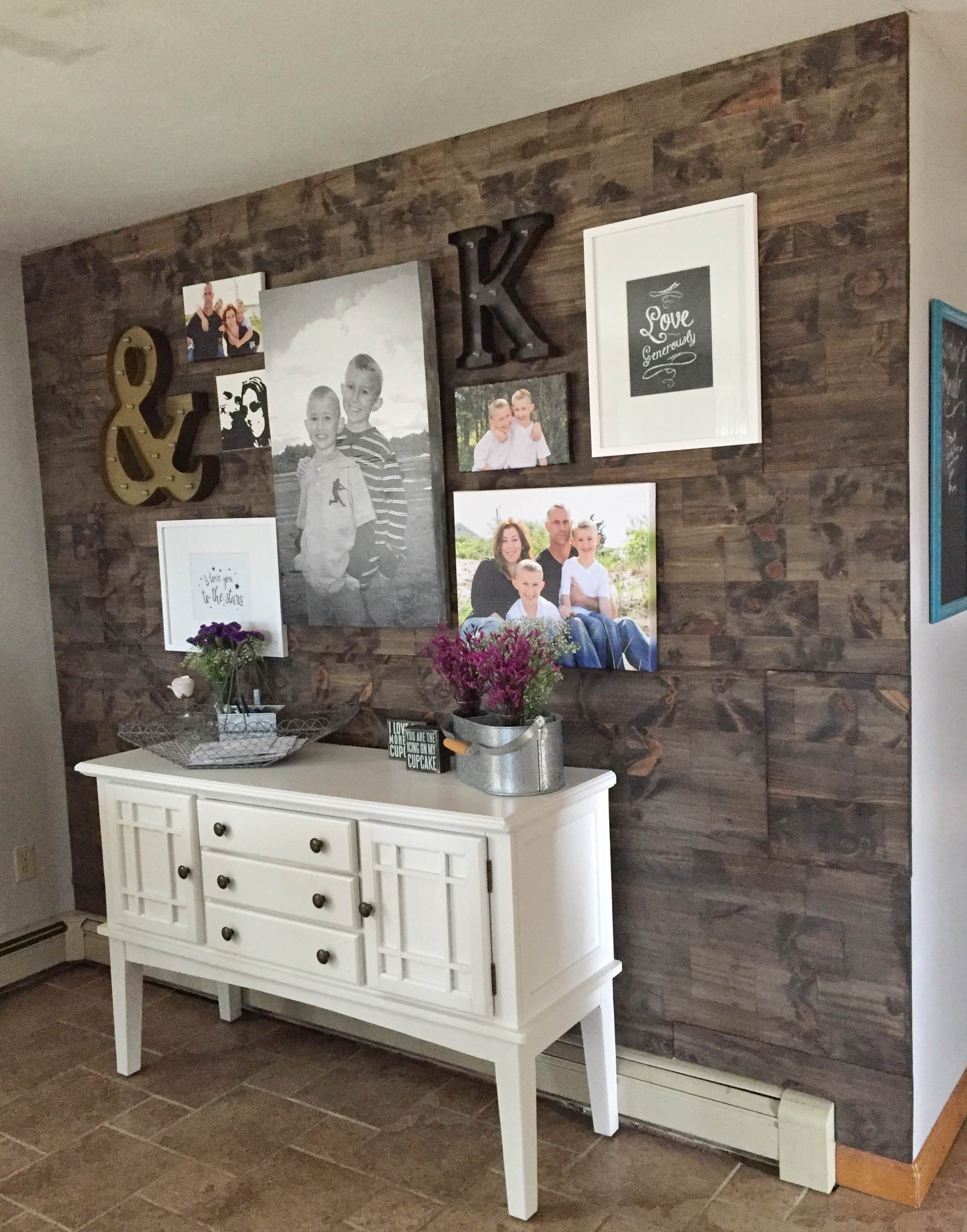 How To Fake A Reclaimed Wood Accent Wall Faux Diy Tutorial Ginakirk