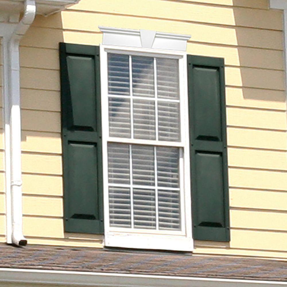builders edge 15 in x 43 in raised panel vinyl exterior shutters