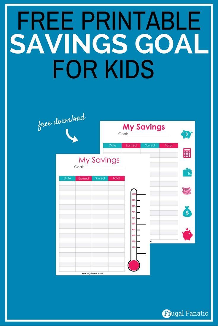 how to create savings goals for kids   free savings