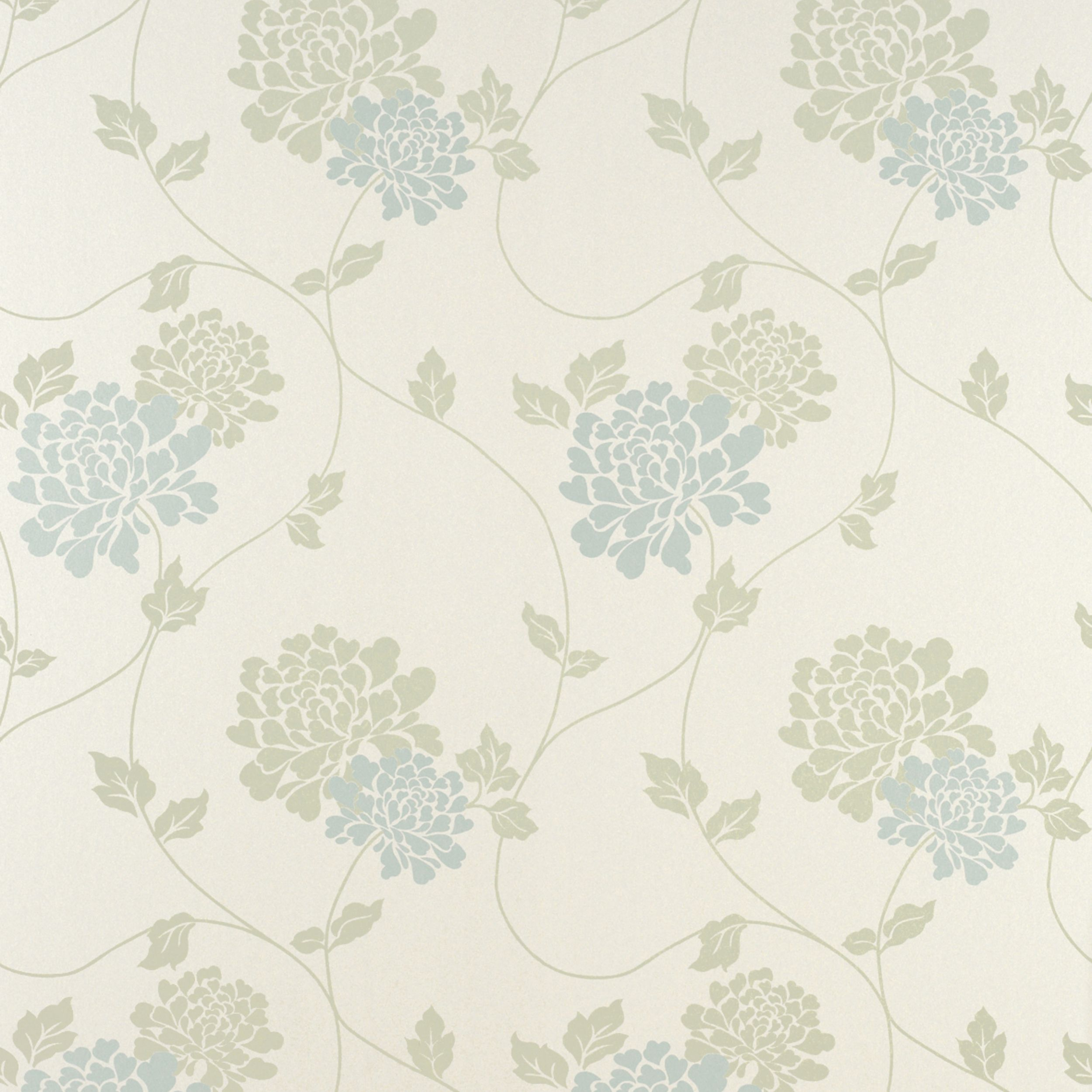 Isodore Pale Forest Floral Wallpaper Blue Floral Wallpaper