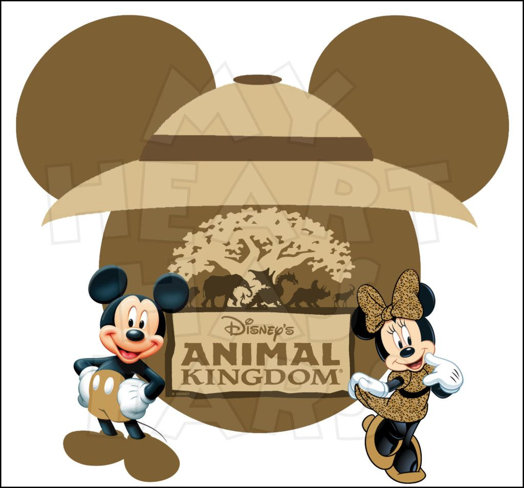 Mickey And Minnie Mouse Animal Kingdom Instant Download Digital Clip Art My Heart Has Ears Animal Kingdom Disney Mickey Mouse Animal Kingdom