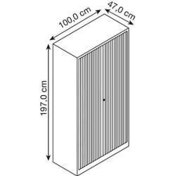 Bisley Essentials Rollladenschrank grau 4 Fachböden Bisley - #Bisley #Essentials #Fachböden #grau #raumtrenner #Rollladenschrank