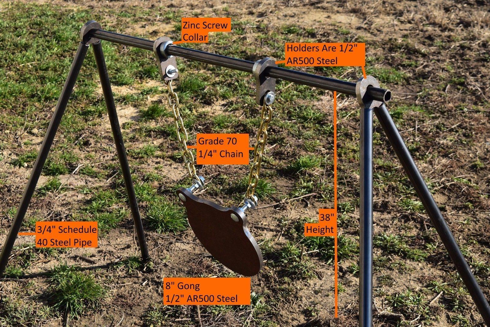 Gallery Swinging 6 Metal Targets Auto Reset Traps Shooting Spinning Target