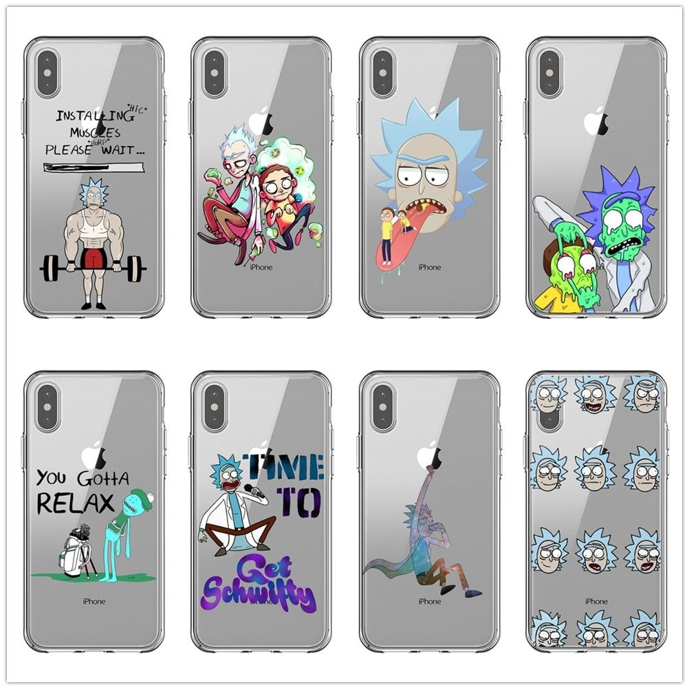 Pin on rick and morty black soft silicone tpu case for