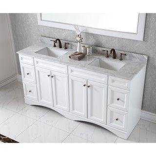Photo Gallery For Website Virtu USA Talisa inch Double Sink White Carrara Marble Countertop Vanity