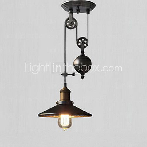 rustique r tro lampe suspendue pour cuisine couloir garage ampoule non incluse lumi res. Black Bedroom Furniture Sets. Home Design Ideas