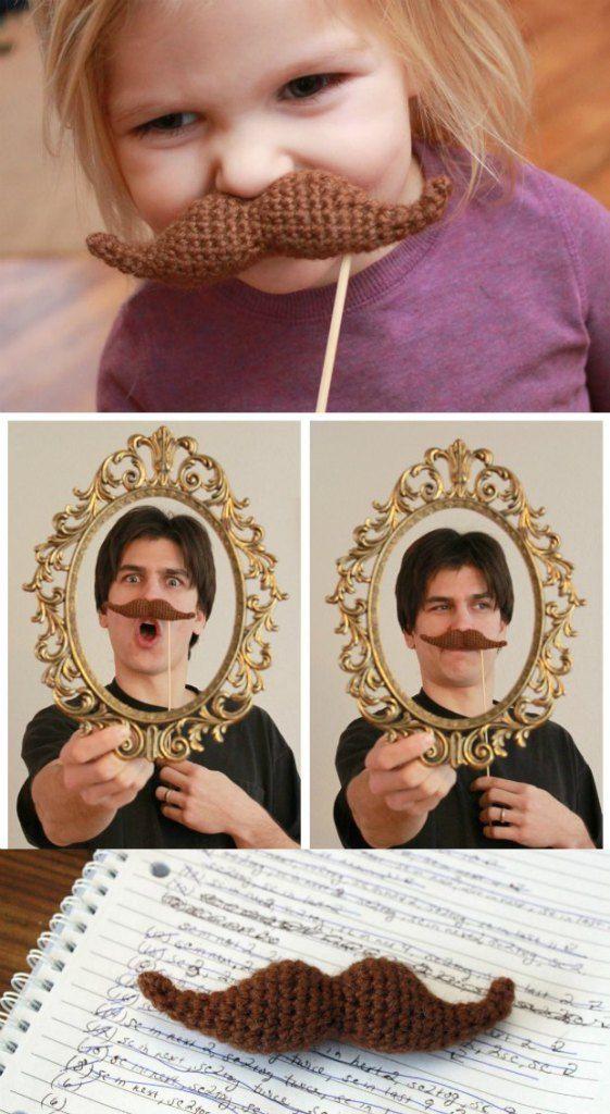 Crochet Moustache Fun Free Pattern | Bigote