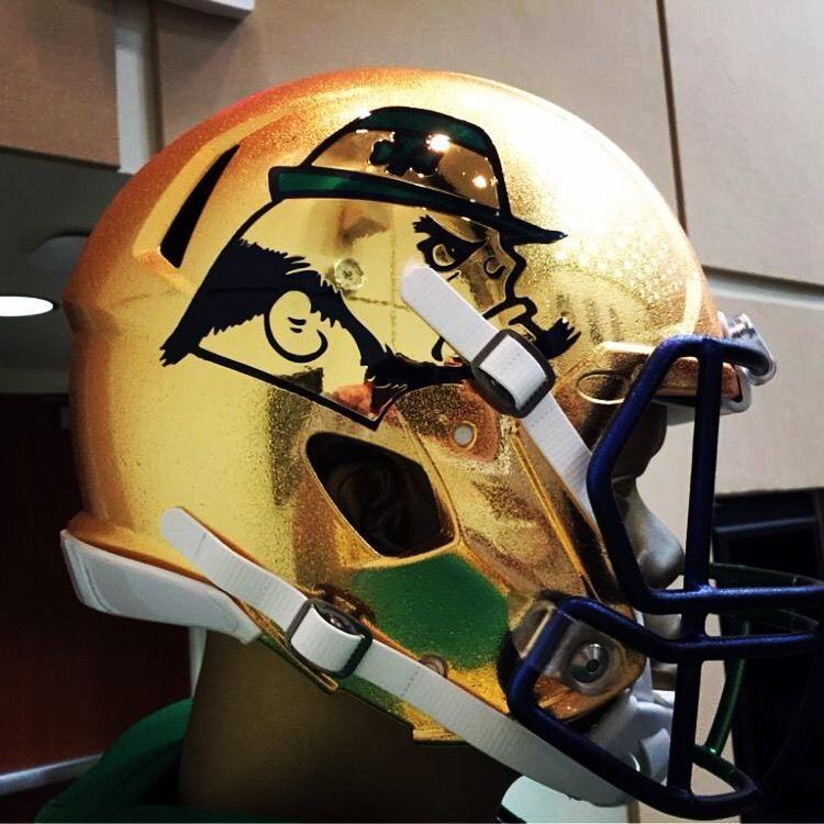 0d14f9601 Notre Dame Football 2015 Shamrock Series Authentic Hydrofx FS Helmet Boston   NotreDame