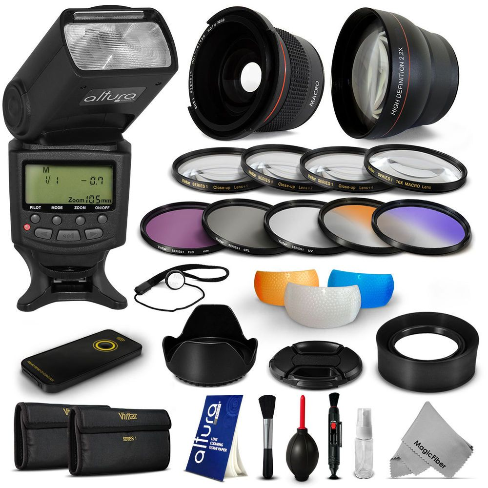 #Lens & #Filter kit + Altura Premium #Flash for Nikon D5300 D5200 D5100 D3300 D3200 #AlturaPhoto #MagicFiber #CyberMondayDEALS #CyberMondayDeal #CyberMonday #SALE #DEAL #DEALS #PHOTOGRAPHY #GIFT