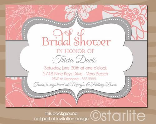 C Pion Bridal Shower Invitation Printable Design Starwedd Digital Art On