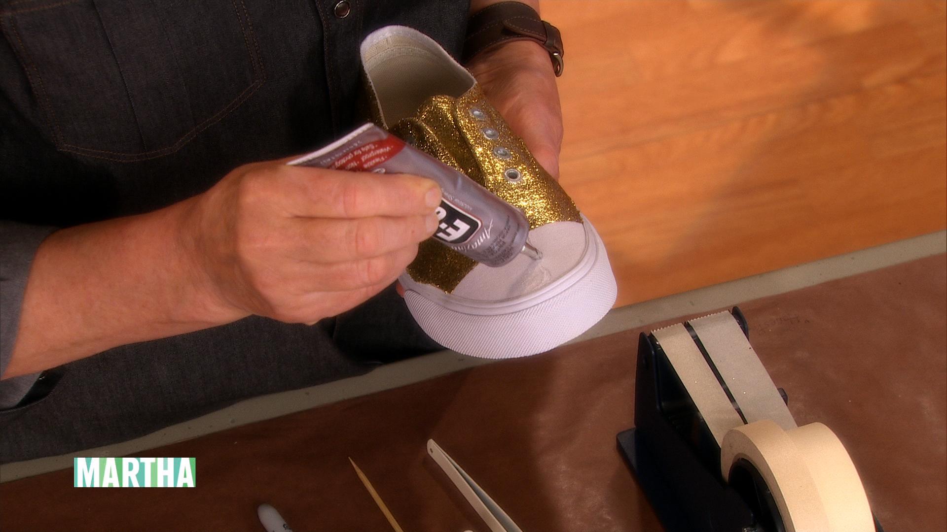 Diy glitter sneakers, Glitter crafts