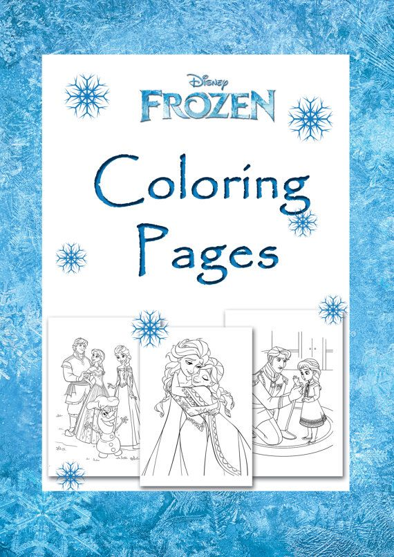 Disney Frozen Coloring Pages Printable Decorative Party Book Birthday