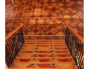Escalera de terracota escalera de suelo de terracota - Baldosas para escaleras ...