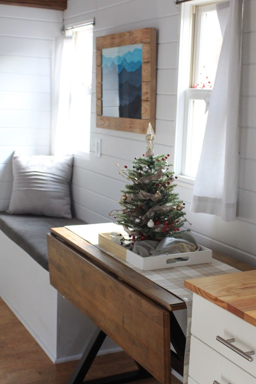This is a 300 sq ft modern tiny house on wheels in knoxville tennessee thats for sale its built on a 26ft tumbleweed trailer and features two lofts