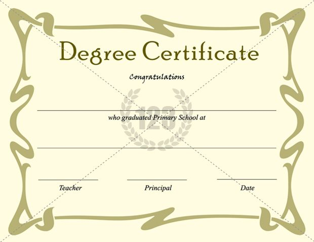 Best Degree Certificate Templates For Primary School Graduation