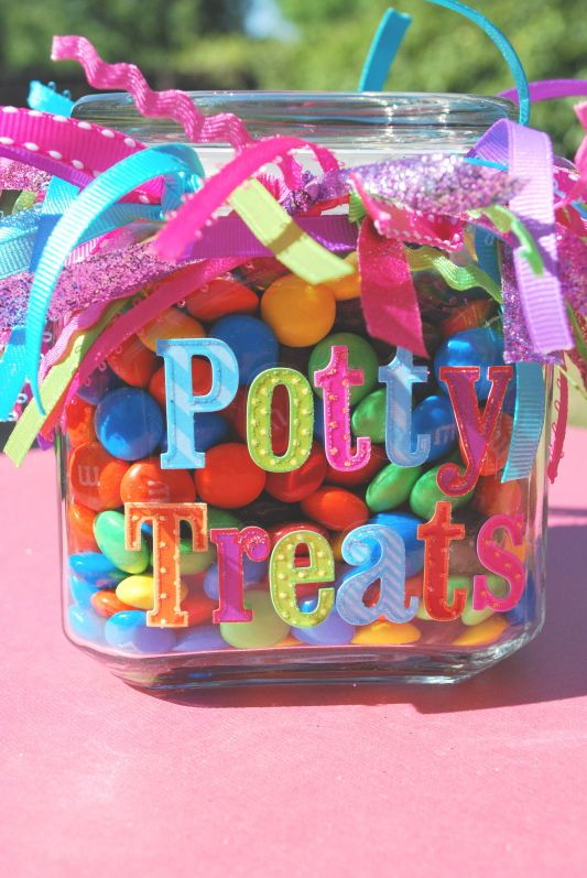 Potty Treats Jar-Making this tonight, mine is nowhere near this cute yet. :)