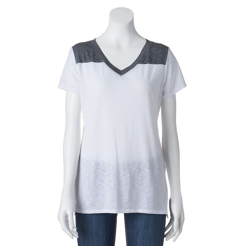 Juniors' SO® Back-Cutout Burnout Active Tee, Girl's, Size: Medium, White