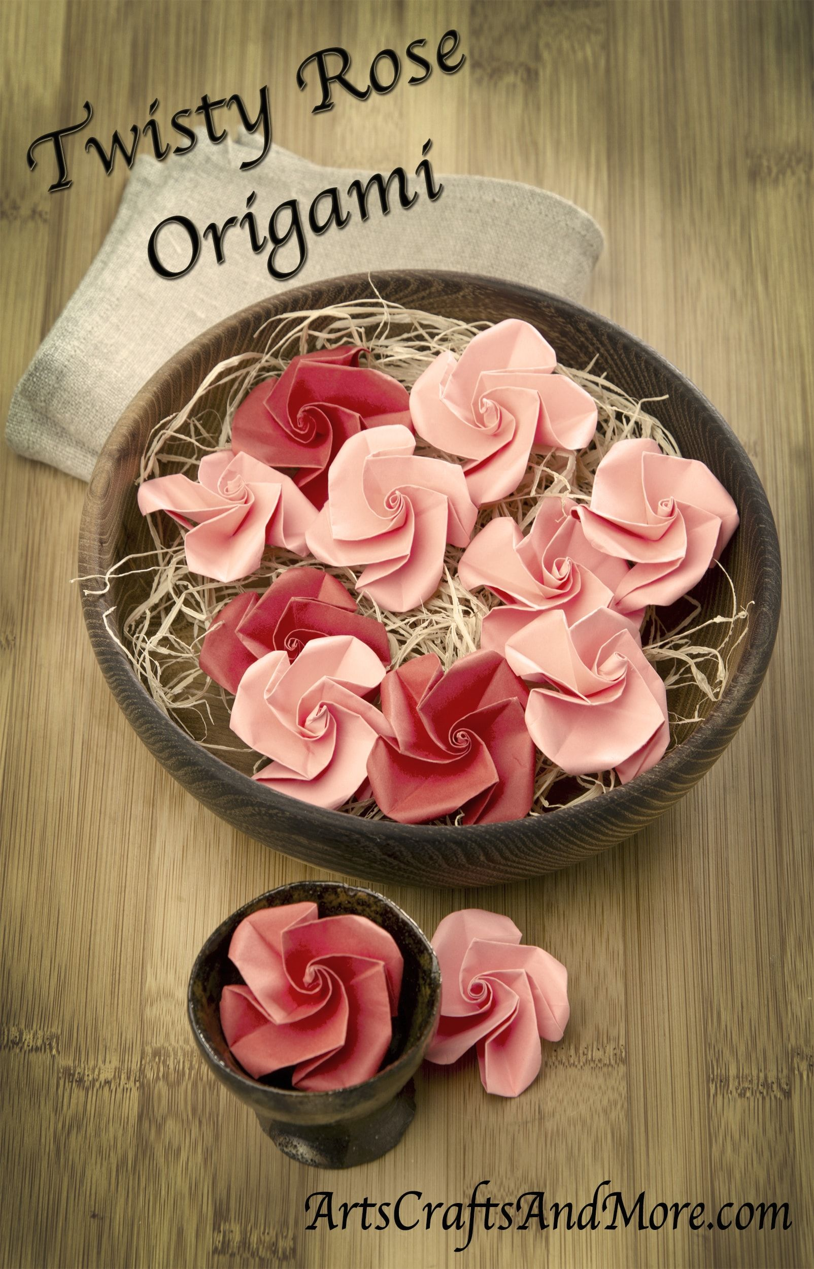 Twisty Rose Origami. Check out this step-by-step tutorial ... - photo#31