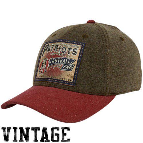 91211f8974b Reebok New England Patriots Brown Pro Shape Flex Hat (Small Medium)  12.99