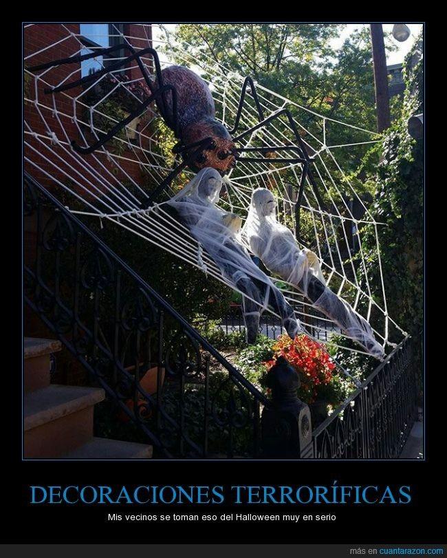 DECORACIONES TERRORÍFICAS - Mis vecinos se toman eso del Halloween - diy outdoor halloween props