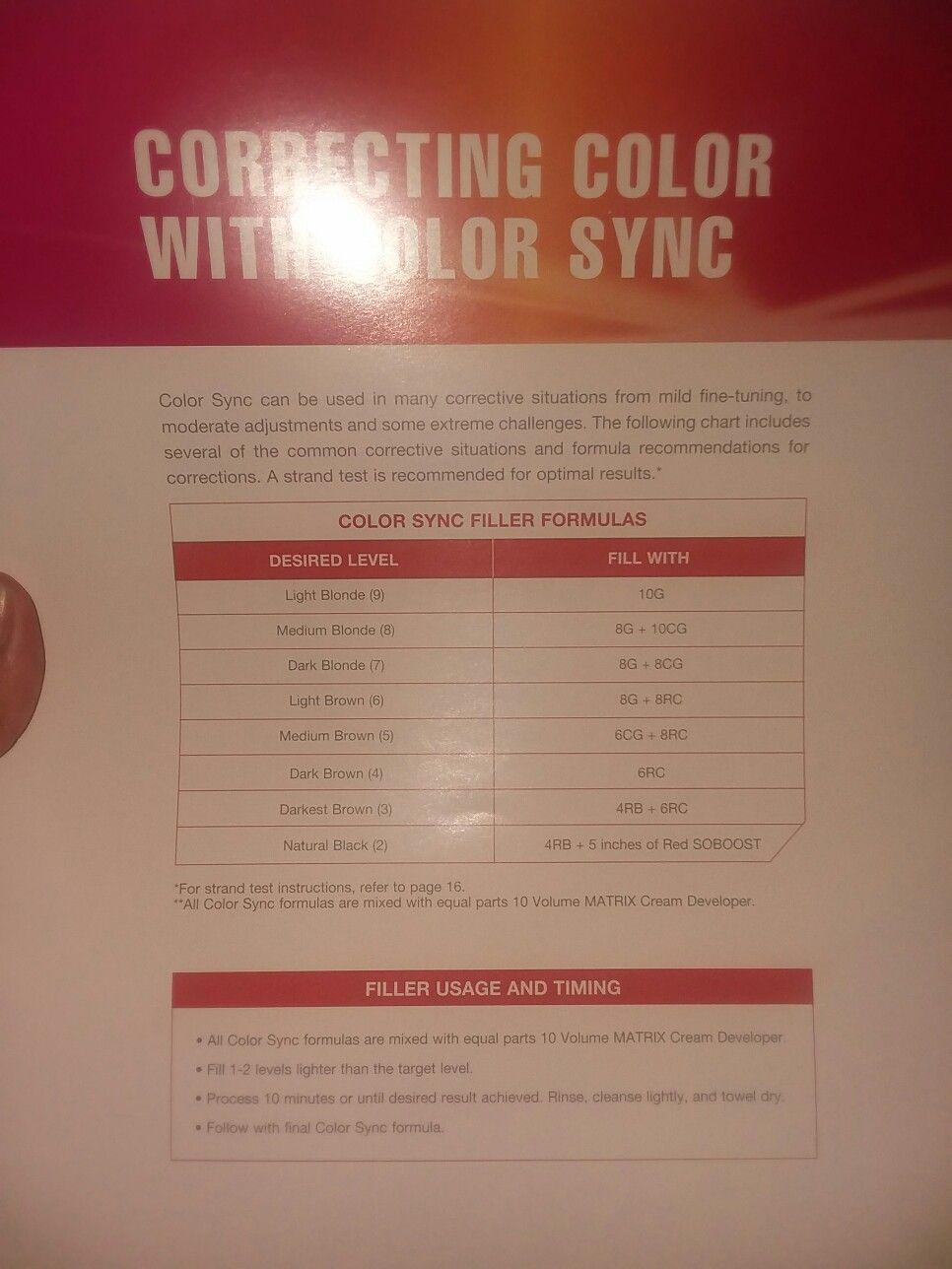 Matrix Color Sync Hair Color Correcting Color Correcting Hair Matrix Sync In 2020 Matrix Color Matrix Hair Color Hair Color