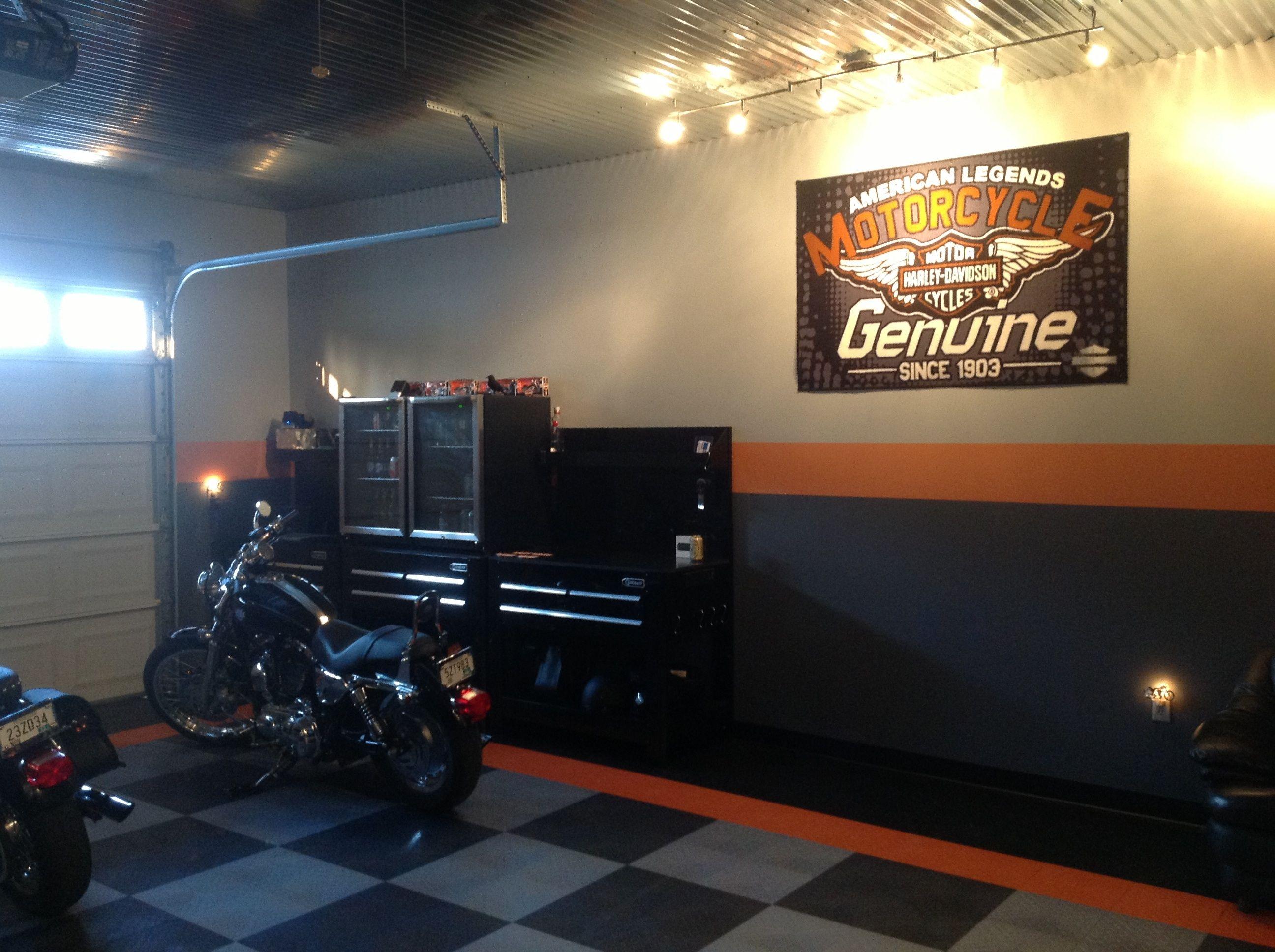 My Harley Garage Garage Paint Garage Style Motorcycle Garage