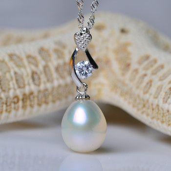 Elegant White  Freshwater Natural Pearl Pendants
