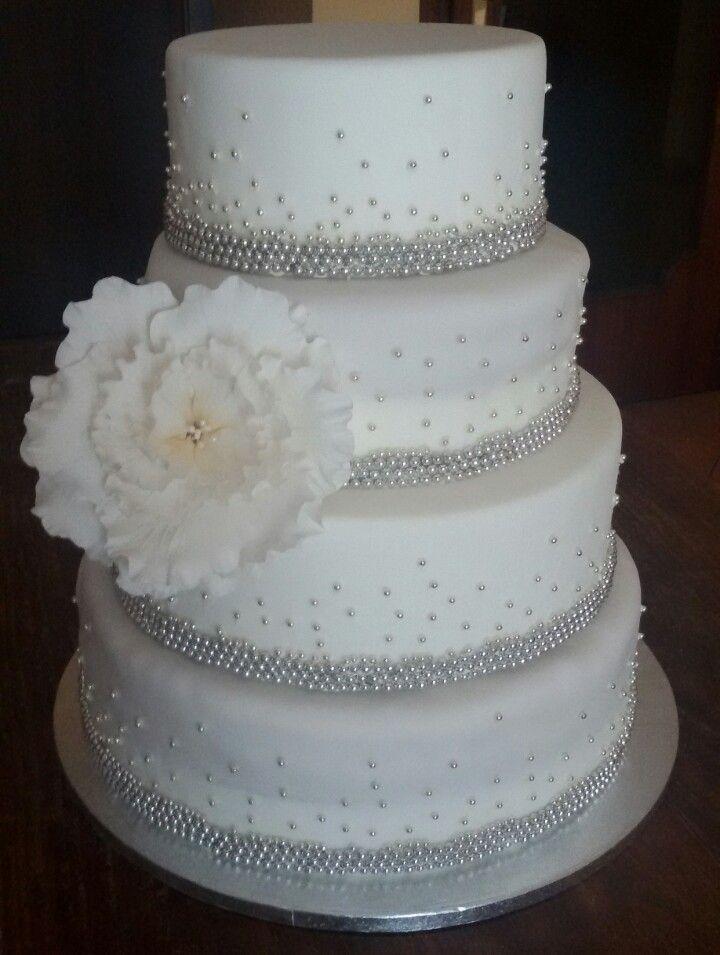Torta per 25 anni di matrimonio 25 anniversario di for Decorazioni torte per 60 anni di matrimonio