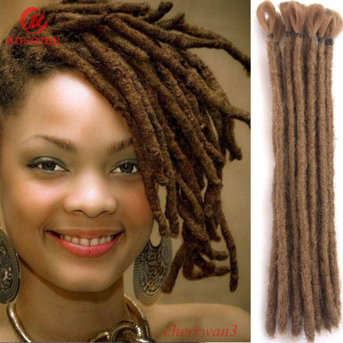 1379 Aud 5 Dreads 30cm Short Dreadlocks Extensions Synthetic