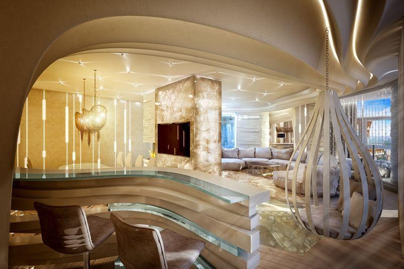 Moderne Wohnideen \u2013 65 glamouröse Wohnzimmer, Schlafzimmer und Bäder