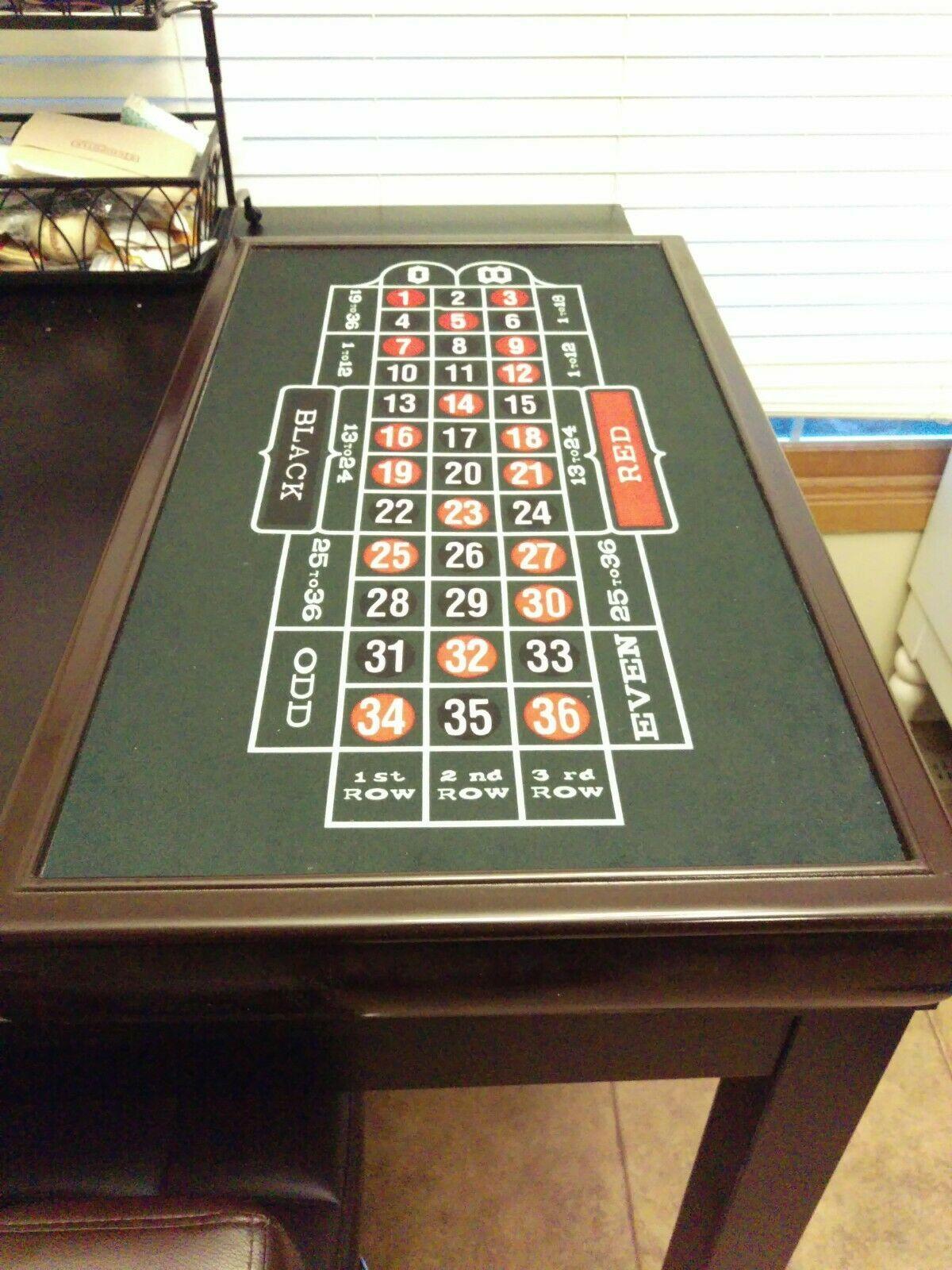 Rake It In Casino Night Table Top Blackjack Roulette Craps Table W Poker Chips Casino Table Games Poker Chips Blackjack