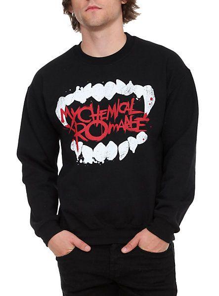 16ddd624 My Chemical Romance Fangs Crewneck Sweatshirt | Hot Topic | Band ...